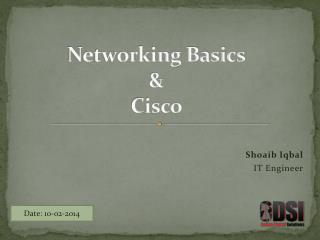 Networking Basics  & Cisco
