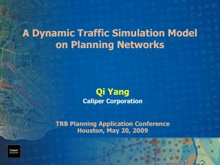 A Dynamic Traffic Simulation Model on Planning Networks