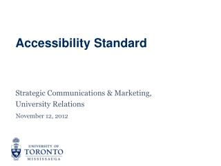 Accessibility Standard