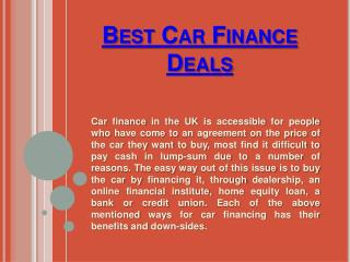 Low Apr Car Finance