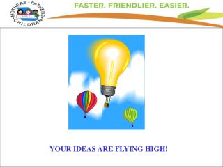 YOUR IDEAS ARE FLYING HIGH!