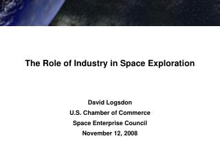 The Role of Industry in Space Exploration