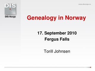 Genealogy in Norway