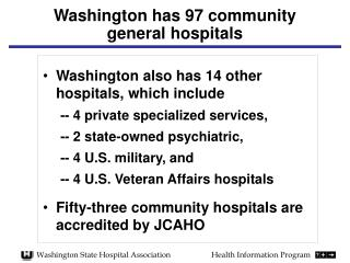 Washington has 97 community general hospitals