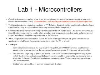 Lab 1 - Microcontrollers