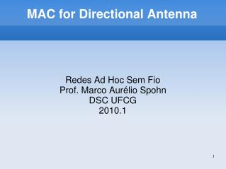 MAC for Directional Antenna