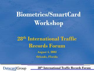 Biometrics/SmartCard Workshop