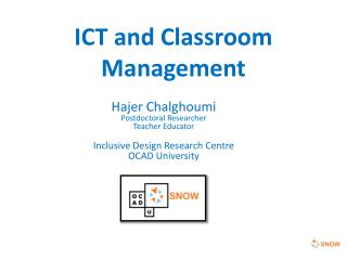 ICT and Classroom Management