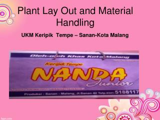 Plant Lay Out and Material Handling