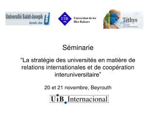 ¿What is Internationalization for the UIB?