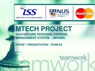 MTECH PROJECT MASTERCARD PERSONAL EXPENSE MANAGEMENT SYSTEM – (MPEMS)