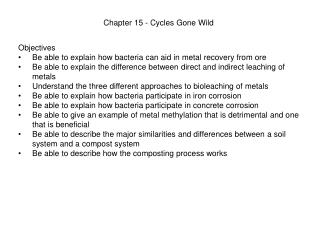 Chapter 15 - Cycles Gone Wild