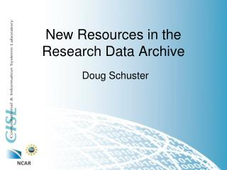 New Resources in the Research Data Archive