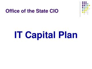 Office of the State CIO