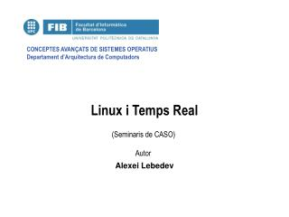 Linux i Temps Real