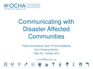 Communicating with Disaster Affected Communities
