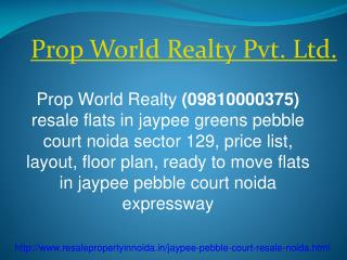 Jaypee Pebble Court Resale Price 09810000375 Noida