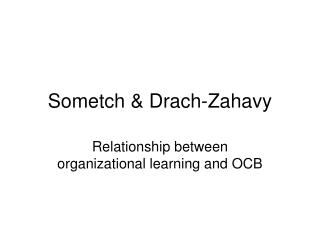 Sometch & Drach-Zahavy