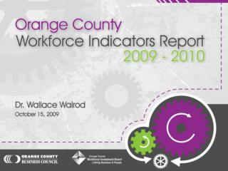 "Provide an annual ""State of the County"" benchmark of where the region is currently in terms of:"