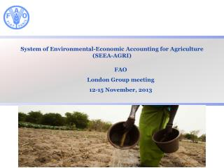 System of Environmental-Economic Accounting for Agriculture  ( SEEA-AGRI)