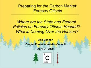 Preparing for the Carbon Market: Forestry Offsets
