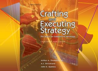 The  Managerial  Process  of  Crafting  and  Executing  Strategy