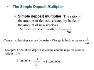 The Simple Deposit Multiplier
