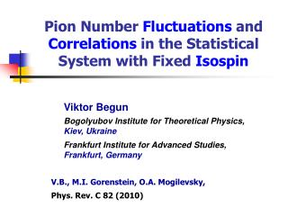 Pion Number  Fluctuations  and  Correlations  in the Statistical System with Fixed  Isospin