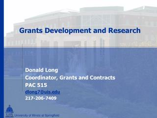 Grants Development and Research