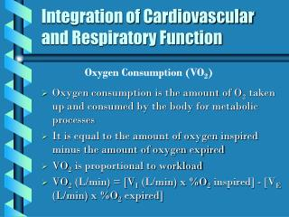 Integration of Cardiovascular and Respiratory Function