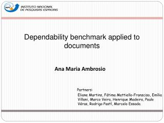 D ependability benchmark applied to documents