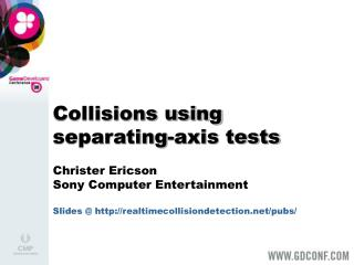 Collisions using separating-axis tests