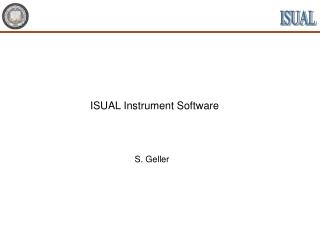 ISUAL Instrument Software