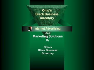 And Marketing Solutions By Ohio's  Black Business  Directory