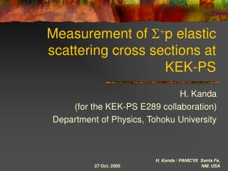 Measurement of  S + p elastic scattering cross sections at KEK-PS