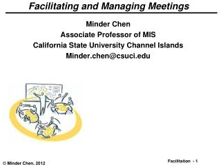 Facilitating and Managing Meetings