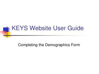 KEYS Website User Guide