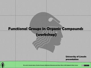 Functional Groups in Organic Compounds  (workshop)