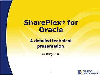SharePlex ®  for Oracle