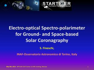 Electro-optical Spectro-polarimeter   for Ground- and Space-based  Solar Coronagraphy