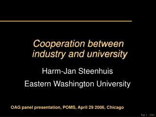 Cooperation between  industry and university