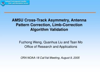 AMSU Cross-Track Asymmetry, Antenna Pattern Correction, Limb-Correction Algorithm Validation