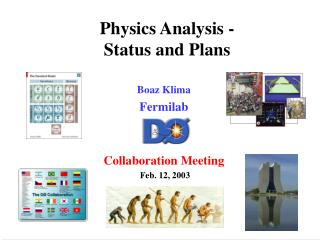 Physics Analysis - Status and Plans