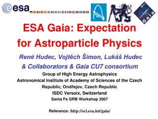 ESA Mission Gaia Unraveling the chemical and dynamical  history of our Galaxy