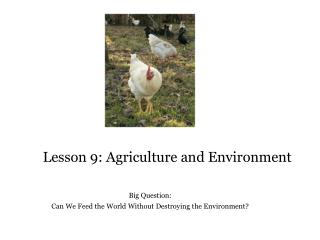 Lesson 9: Agriculture and Environment
