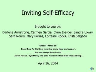Inviting Self-Efficacy