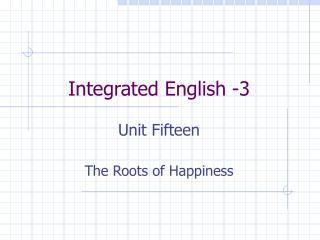 Integrated English -3