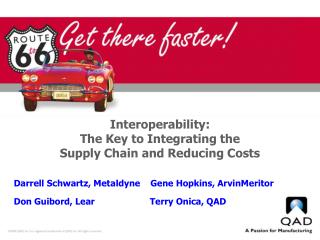 Interoperability:  The Key to Integrating the  Supply Chain and Reducing Costs