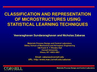 CLASSIFICATION AND REPRESENTATION OF MICROSTRUCTURES USING STATISTICAL LEARNING TECHNIQUES