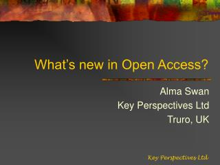 What's new in Open Access?